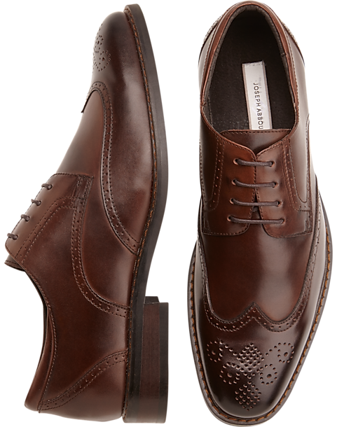 72d75e7b5f571 Joseph Abboud Brown Wingtip Lace-Up Shoes - Men s Shoes