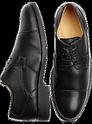 Belvedere Duke Black Cap Toe Shoes
