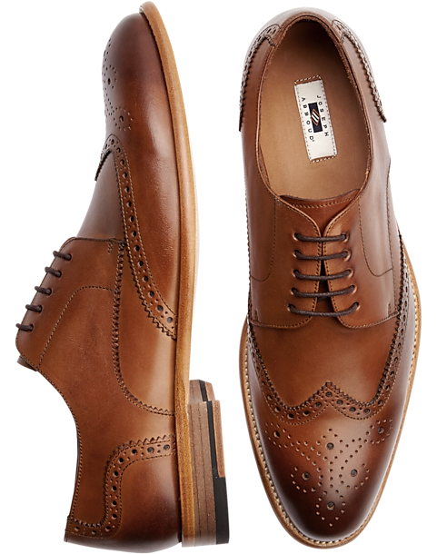 5ad1a6531d3e Joseph Abboud Barstow Brown Wingtip Lace Up Dress Shoes
