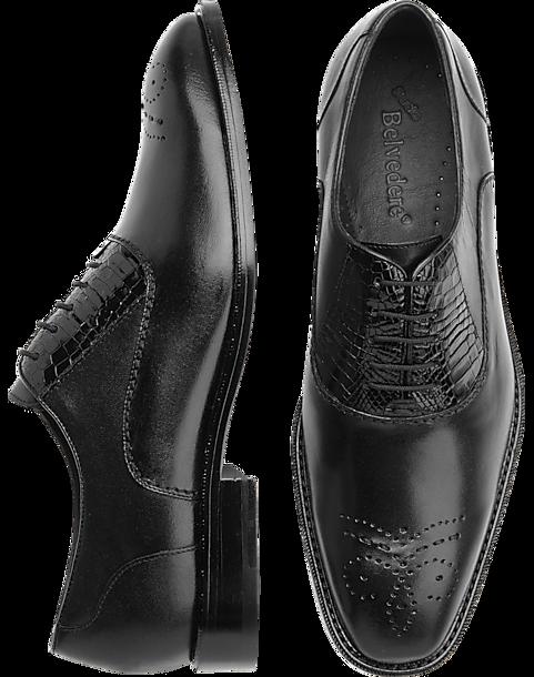Belvedere Como Black Alligator Lace Up Shoes Men S Dress Shoes