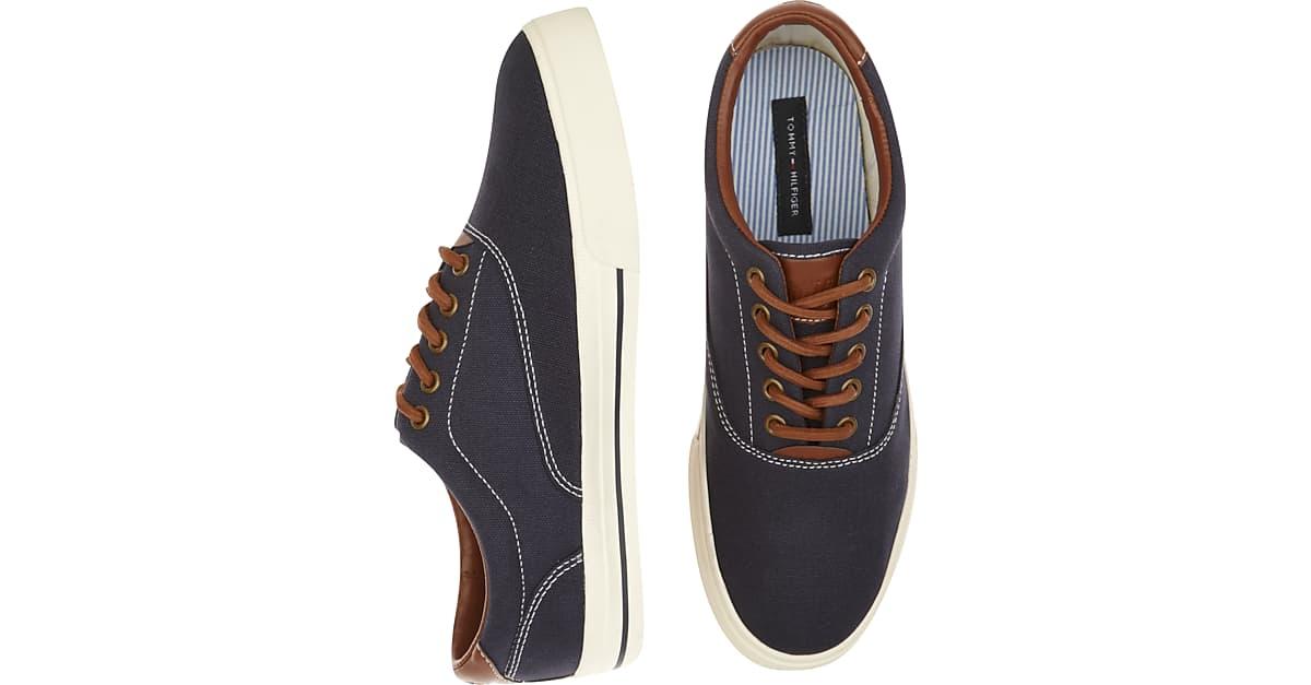 8cc66dd40 Tommy Hilfiger Paulie Navy Canvas Sneakers - Men s Shoes