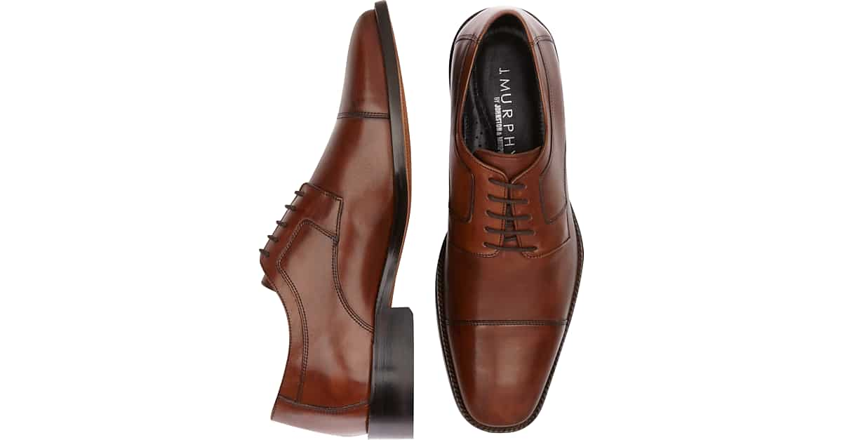 Johnston And Murphy Black Mens Dress Shoes