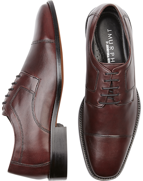3a767209b J. Murphy by Johnston   Murphy Novick Burgundy Cap Toe Lace Up Shoes ...