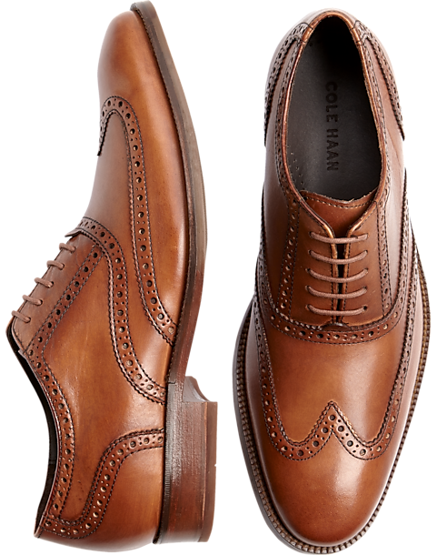 Cole Haan Williams Tan Wingtip Shoes - Mens Dress Shoes, Shoes - Men's  Wearhouse