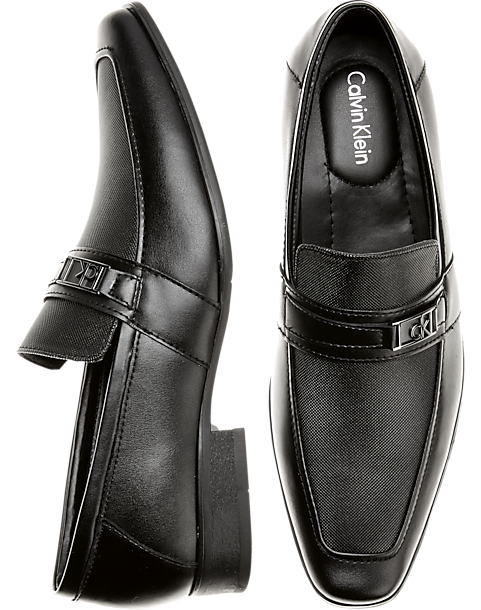 Calvin Klein Bartley Black Loafers Mens Dress Shoes Mens Wearhouse