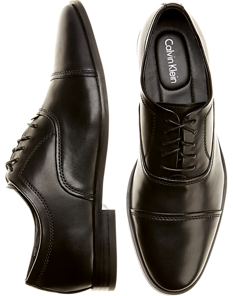 arrives well known newest Calvin Klein Nino Black Cap-Toe Dress Shoes