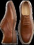 Joseph Abboud Gray Plain Toe Oxfords (Tan/Gray)