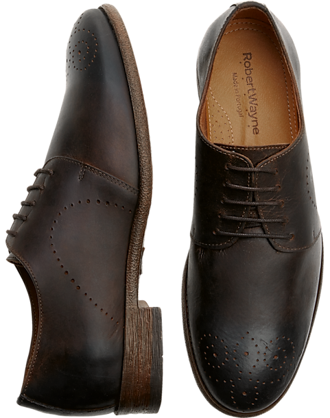 Robert Wayne Utah Brown Lace Up Dress Shoes