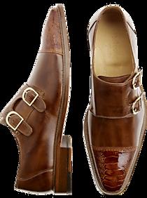 Belvedere Amico Black Monk Strap Shoes