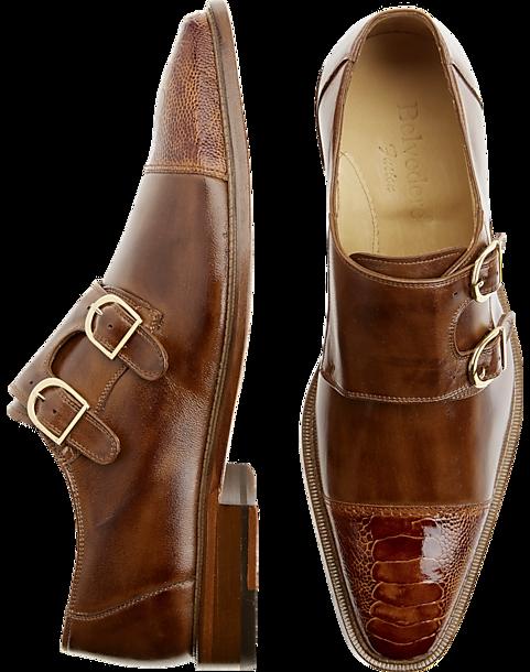 Belvedere Amico Tan Monk Strap Shoes Men S Shoes Men S Wearhouse