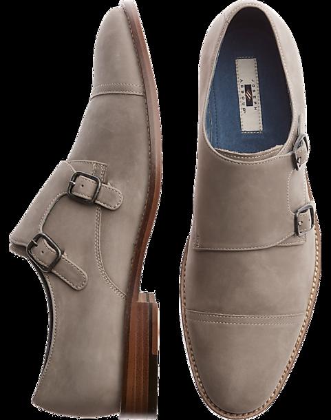 Joseph Abboud Gray Double Monk Strap Shoes Men S Shoes Men S