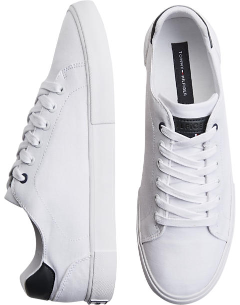 90d2c72d5f08 Tommy Hilfiger White Tennis Shoes - Men s Shoes
