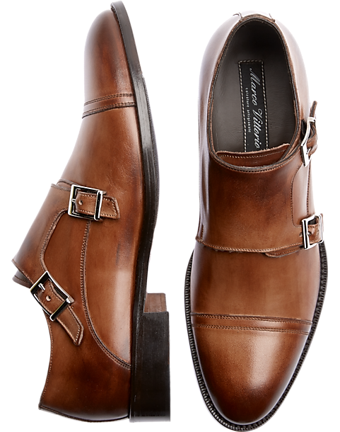 marco vittorio armand tan italian monkstraps men s dress shoes