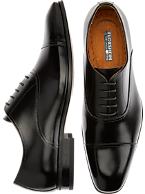 677ae92ae271 Mens Shoes - Florsheim Francisco Black Cap-Toe Oxfords - Men s Wearhouse