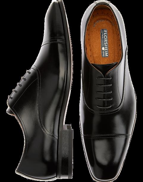a542ef926c Florsheim Francisco Black Cap-Toe Oxfords - Men's Shoes | Men's Wearhouse