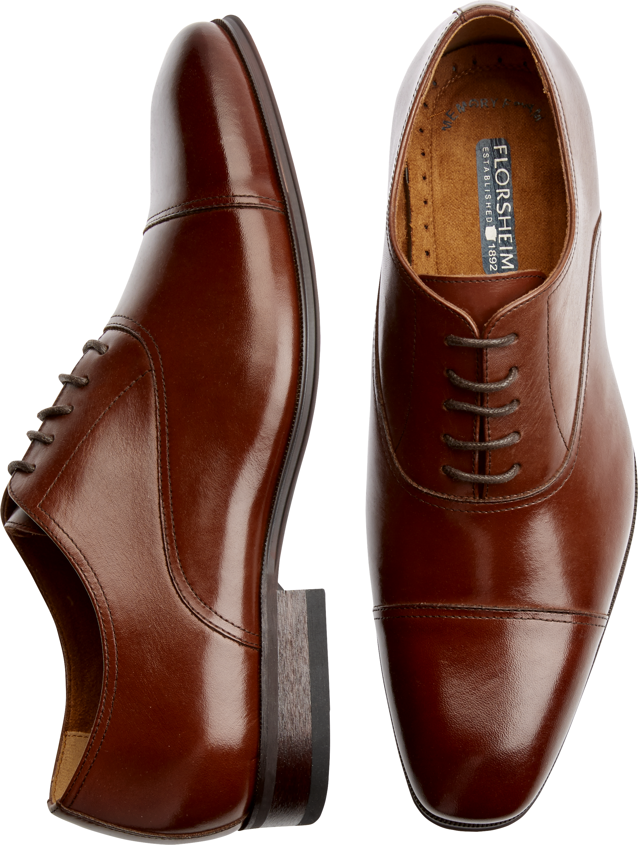 Mens Florsheim Shoes Shoes  Florsheim Francisco Cognac CapToe Oxfords  Mens Wearhouse