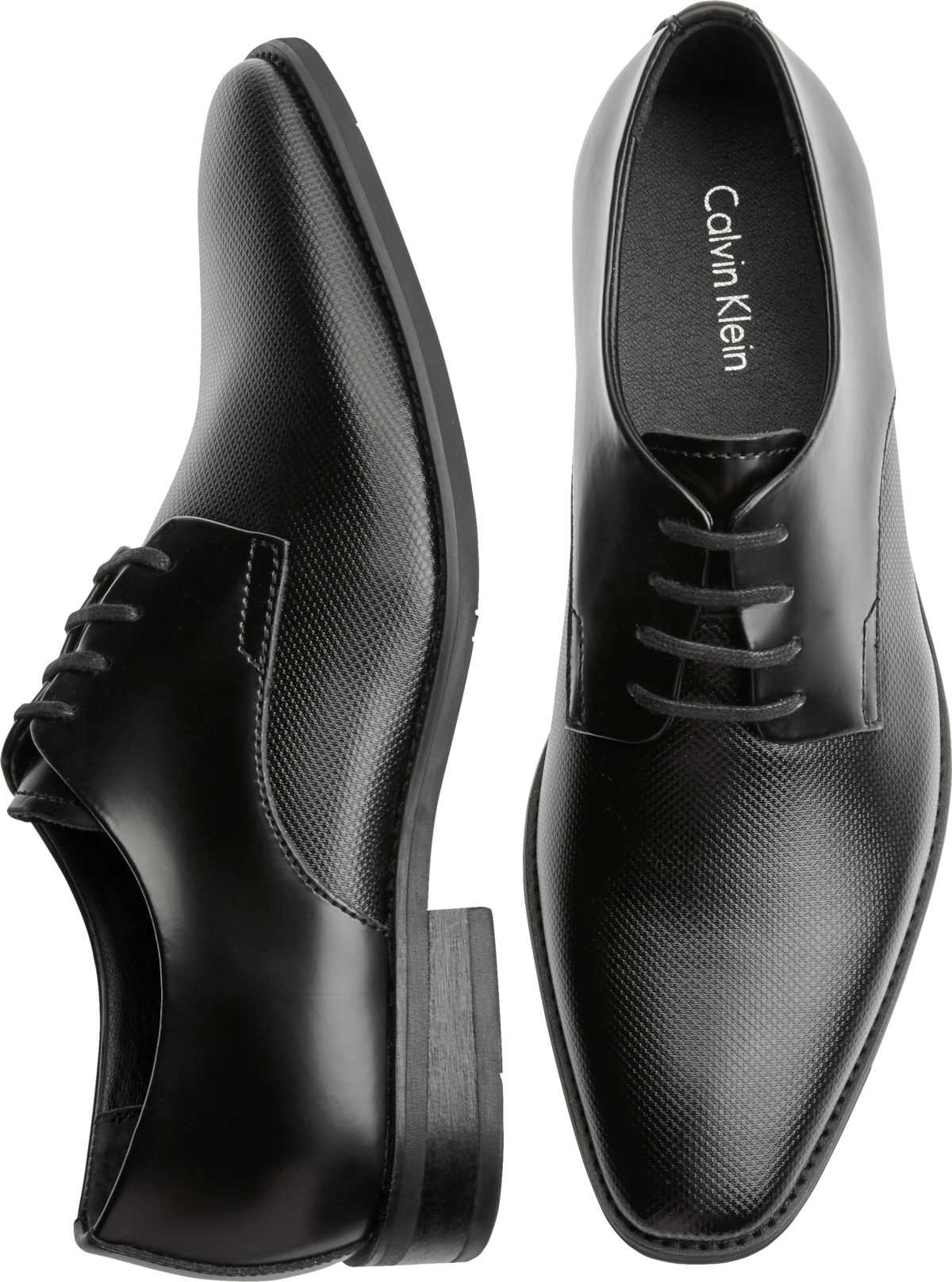 Calvin Klein Ramses (Black Leather) Mens Lace up casual Shoes