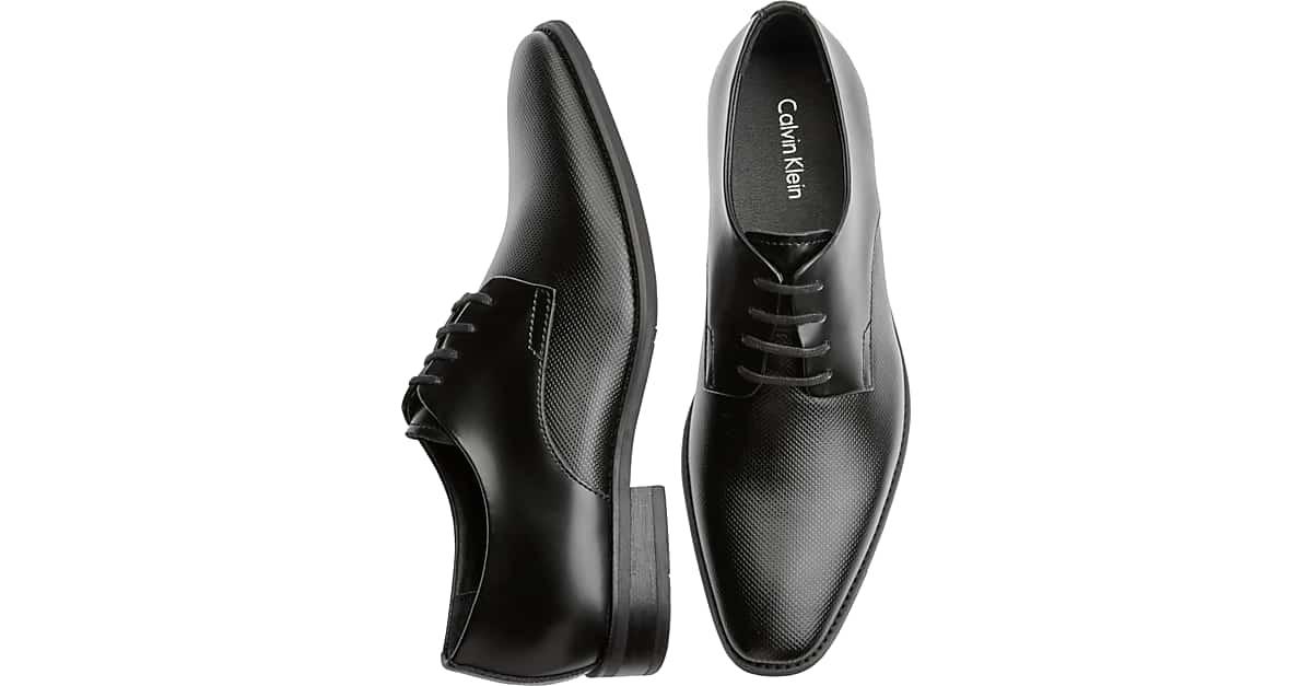 Klein Black Calvin Ramses Textured Oxfords Men's Shoes VMqpUzSG