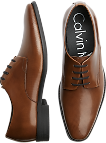 Calvin Klein Ramses Tan Textured Oxfords