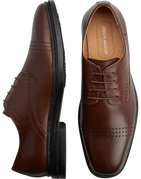 Joseph Abboud Eastman Brown Lace-Up Shoes