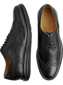 0ad7fcd0ef3 Mens Clearance - Cole Haan Original Grand Black Wingtip Oxfords - Men s  Wearhouse