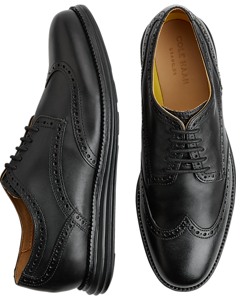 79e26b7051e214 Cole Haan Original Grand.OS Black Wingtip Oxfords - Men s Dress ...