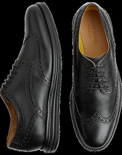 63c13d2bc3 Cole Haan Original Grand Black Wingtip Oxfords - Men's Shoes | Men's ...