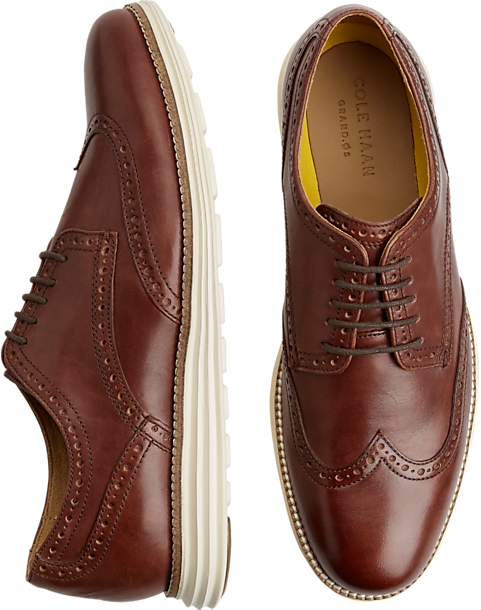 Cole Haan Original Grand Tan Wingtip Oxfords - Mens Home - Men's Wearhouse