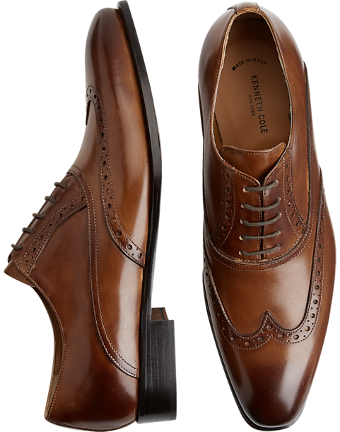 397bfad0f614 Kenneth Cole Coat of Arms Tan Wingtip Oxfords - Men s Shoes