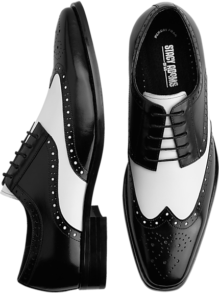 8c3bfe41722 Stacy Adams Tinsley Black   White Wingtip Oxfords