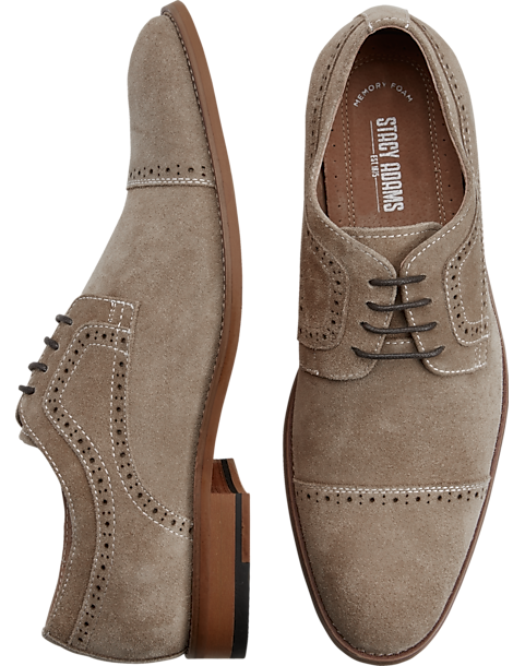 eccf4964972d Stacy Adams Dobson Sand Suede Cap-Toe Oxfords - Mens 30% Off Select Shoes