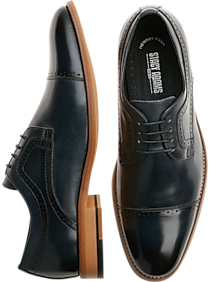 Stacy Adams Dickinson Navy Cap-Toe Oxfords (various colors)