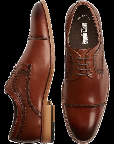 a6dd9fee96d1e Stacy Adams Dickinson Tan Cap-Toe Oxfords - Men s Shoes