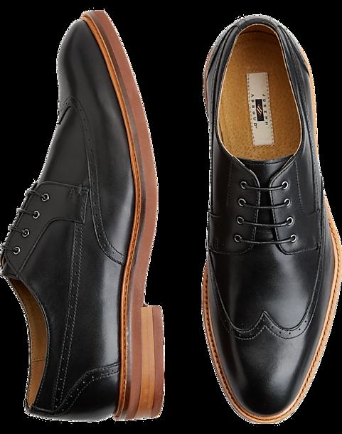 Joseph Abboud Bruno Black Wingtip Oxfords Mens Dress Shoes