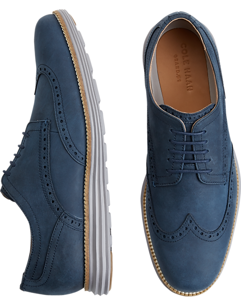 Cole Haan Grand Navy Wingtip Oxfords - Mens Casual Shoes, Shoes - Men's  Wearhouse