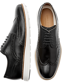 fb82aeb7c07969 Mens Shoes - Cole Haan Grand.OS Grand Shortwing Black Wingtip Oxfords -  Men s Wearhouse