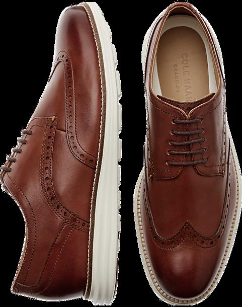 4e11e5ecae Cole Haan Original Grand Cognac Wingtip Oxfords - Men's Shoes ...