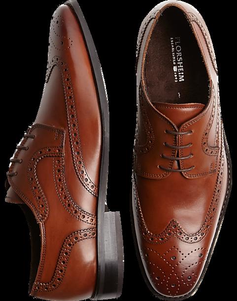 c91765c546f5e Florsheim Tan Wingtip Lace-Up Shoes