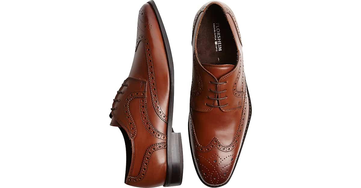 c13be5674e Florsheim Tan Wingtip Lace-Up Shoes - Men s Shoes