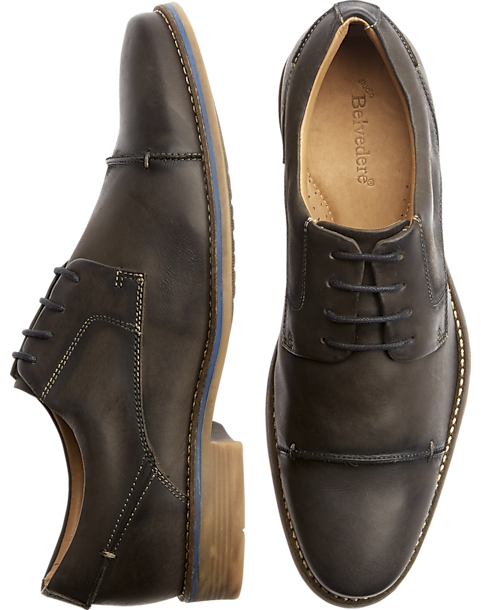 7e10de307144 Belvedere Paris Charcoal Cap Toe Dress Shoes - Men s Shoes
