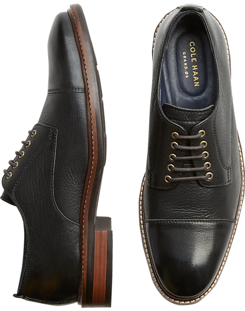 7cd2f41f093b Cole Haan Watson Grand.OS Black Cap-Toe Oxfords - Men s Oxfords ...