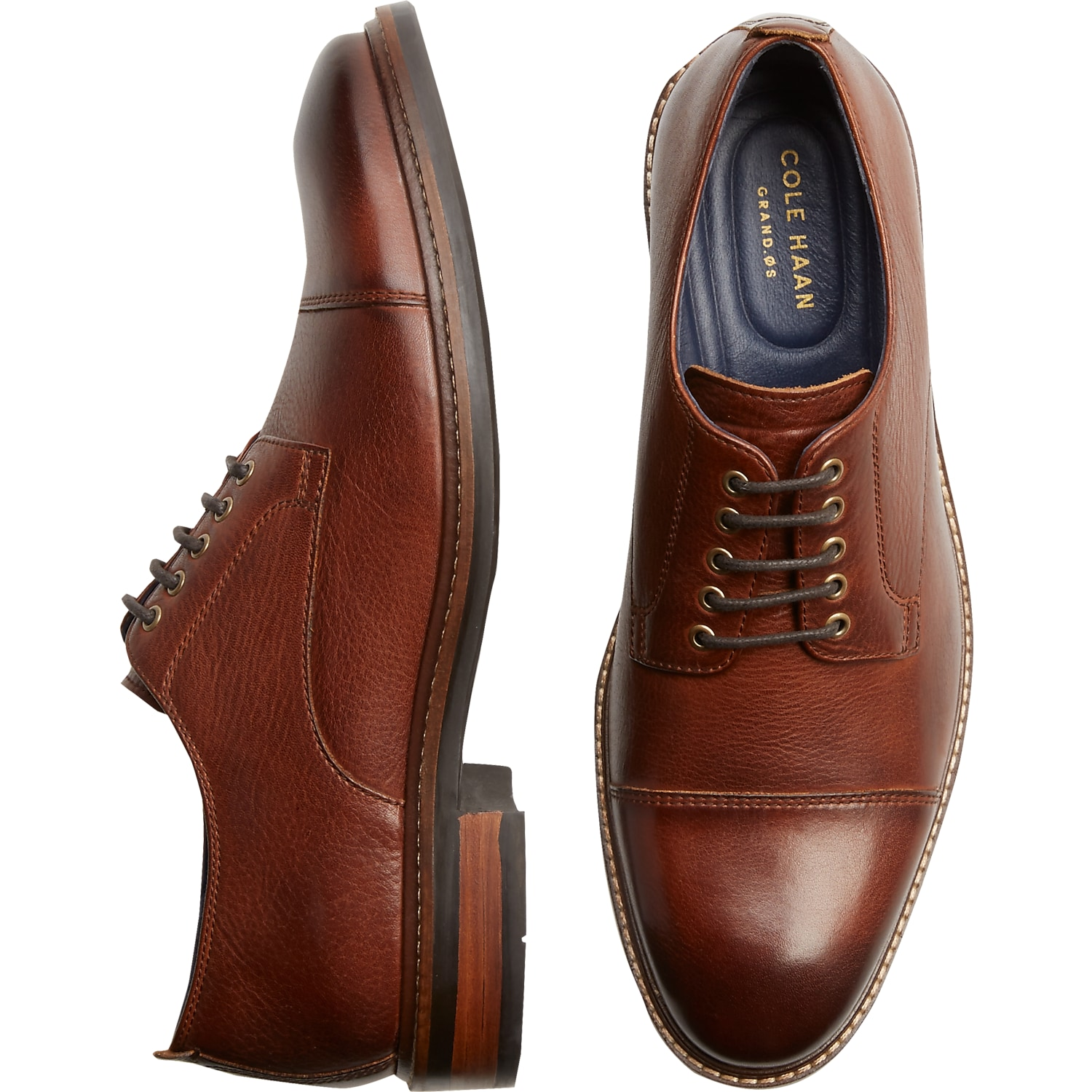 Cole Haan Watson Tan Cap-Toe Oxfords