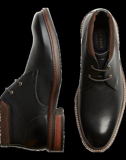 5977bc4acbf Cole Haan Watson Black Chukka Boots - Men's Shoes | Men's Wearhouse