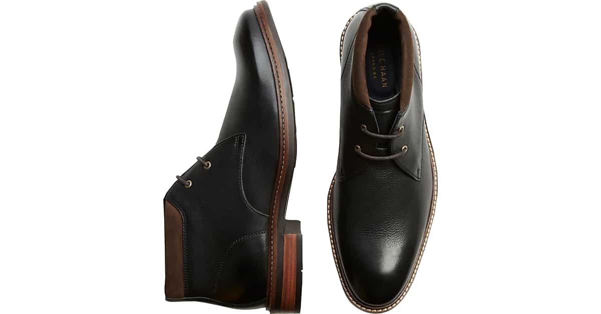 Cole Haan Watson Black Chukka Boots Men's Boots | Men's Wearhouse
