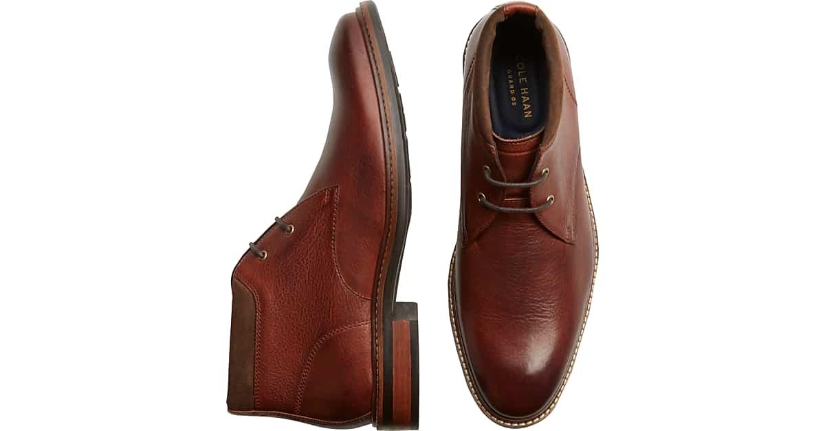 e52db5802b4 Cole Haan Watson Grand.OS Tan Chukka Boots - Men s Shoes