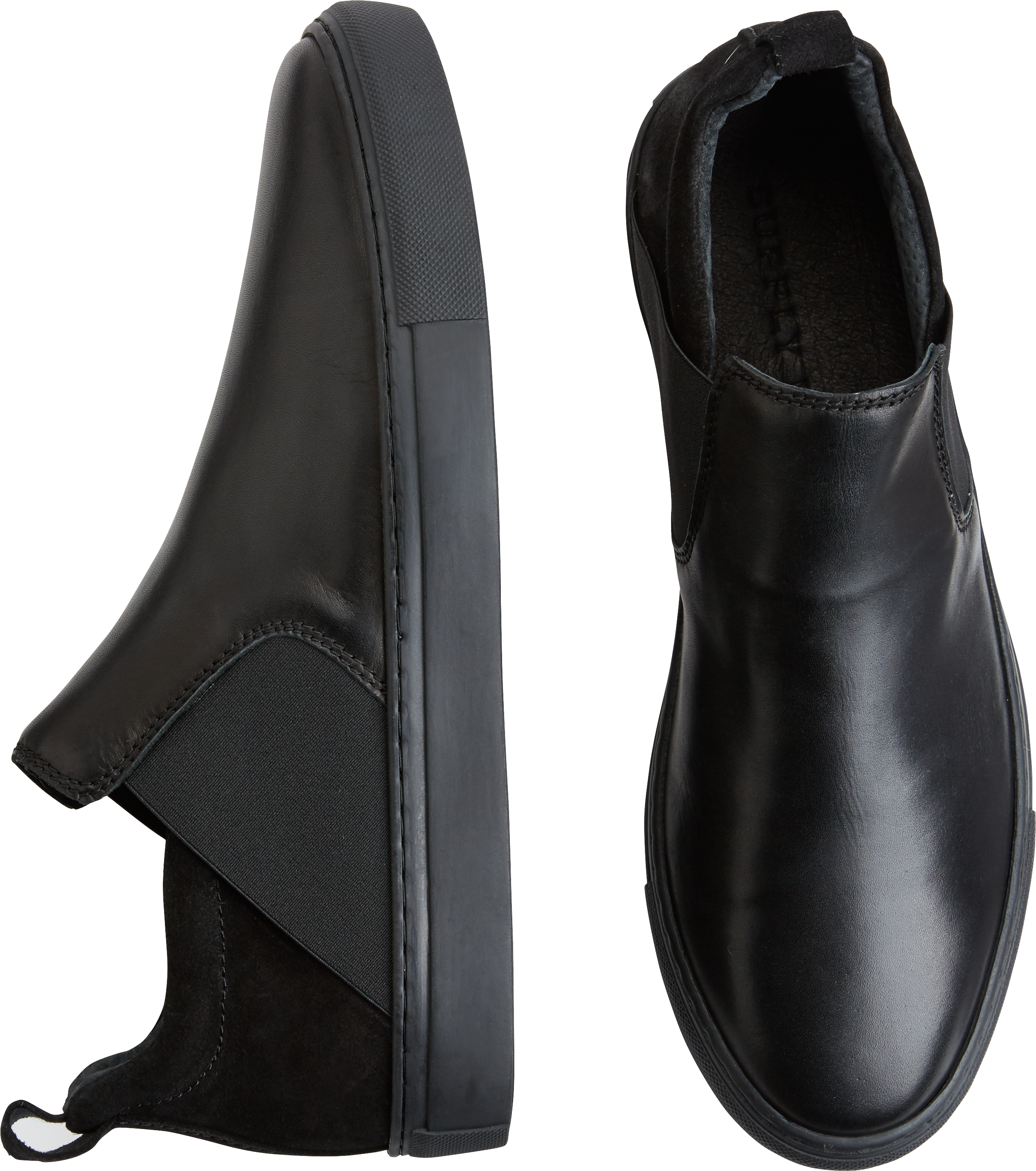 Supply Lab Lance Black Slip-On Sneakers (Black)