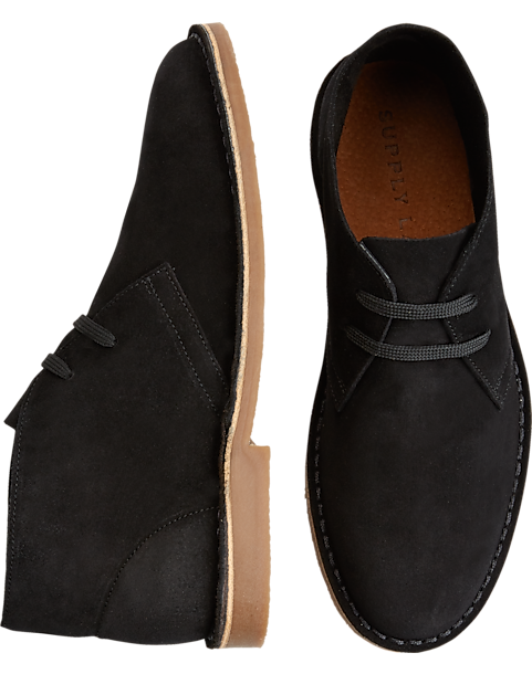 612226f4c92 Supply Lab Beau Black Suede Chukka Boots