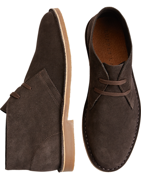 f75a21a5c47 Supply Lab Beau Brown Suede Chukka Boots - Men's Shoes | Men's Wearhouse
