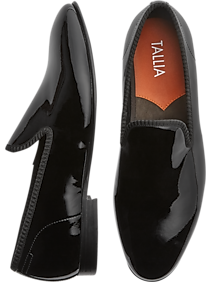 3e47971e01eea9 Mens Shoes - Tallia Emilio Black Patent Slip-On Formal Shoes - Men s  Wearhouse