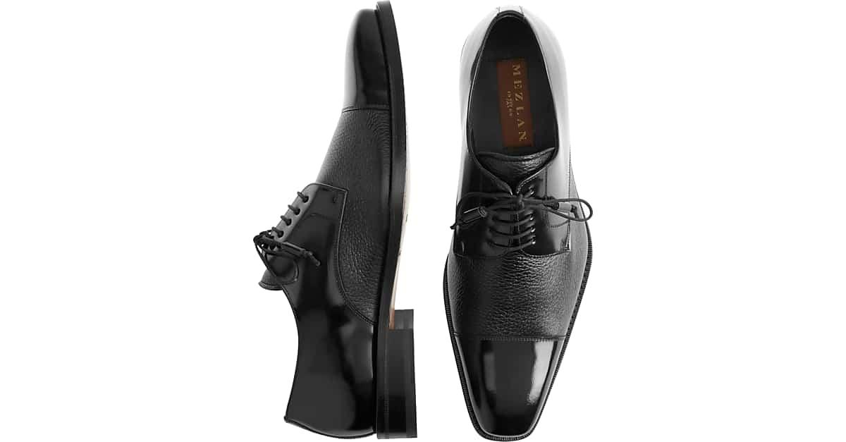 8a931ef24f64 Mezlan Soka Black Cap-Toe Oxfords - Men s Shoes